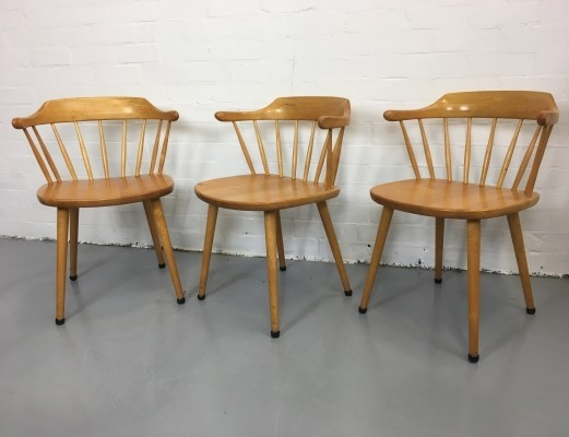 Set of 3 dinner chairs from the seventies by Cees Braakman for Pastoe