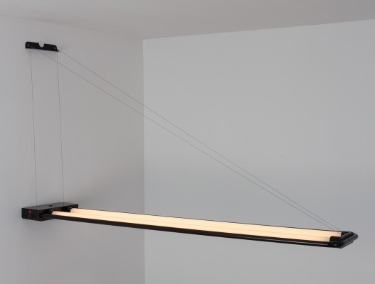 3 Fluorescent Tube Light wall lamps from the eighties by Nicola Gigante & M. Boccato for Zerbetto Padova