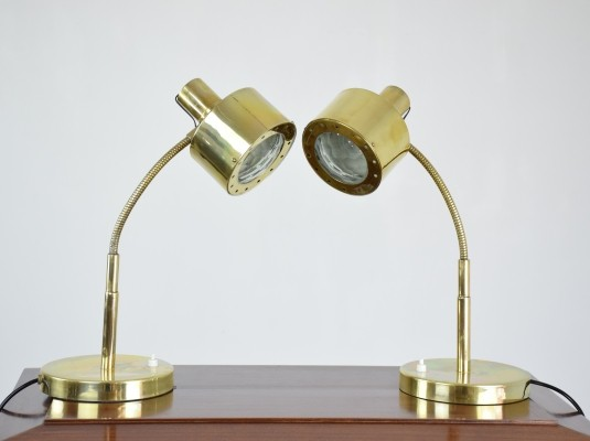 Set of 2 desk lamps from the sixties by unknown designer for unknown producer