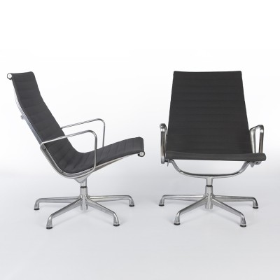 Pair of Alu Group office chairs by Charles & Ray Eames for Herman Miller, 1960s