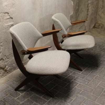Set of 2 Pelican lounge chairs from the fifties by Louis van Teeffelen for Wébé