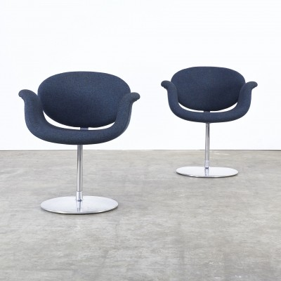 Set of 2 F163 Little Tulip arm chairs from the seventies by Pierre Paulin for Artifort