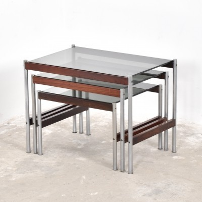 Nesting table from the fifties by unknown designer for Fristho