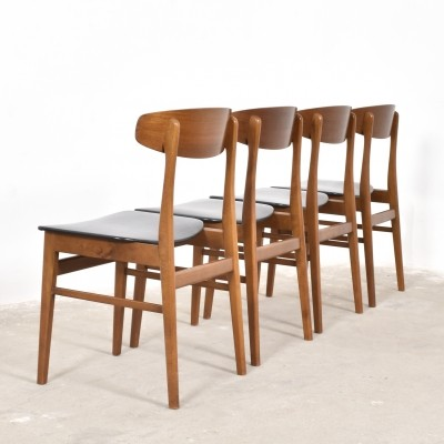 Set of 4 dinner chairs from the fifties by unknown designer for SAX