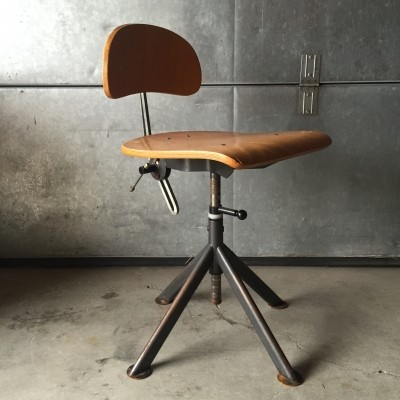 Industrial office chair from the thirties by John Odelberg & Anders Olson for AB Odelberg & Olson