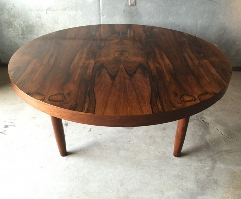 Rosewood coffee table from the sixties by unknown designer for unknown producer
