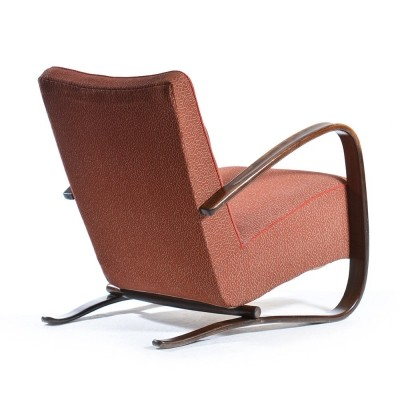 Pair of H-269 lounge chairs by Jindřich Halabala for Spojene UP Zavody, 1940s