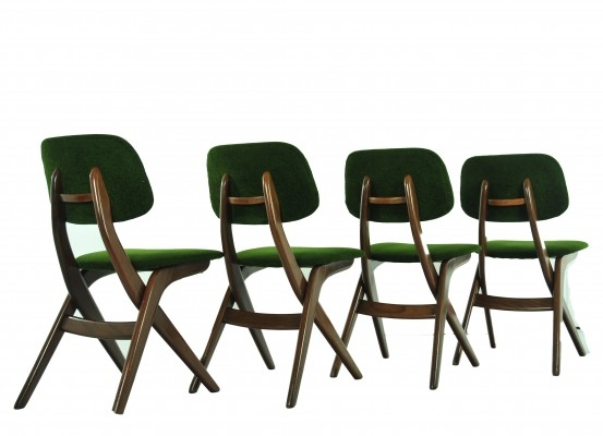 4 dinner chairs from the sixties by Louis van Teeffelen for unknown producer