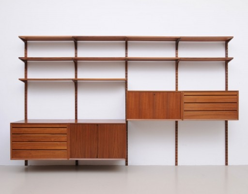 Wall unit from the fifties by Poul Cadovius for Cado