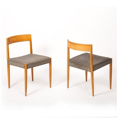 4 dinner chairs from the sixties by unknown designer for Lübke