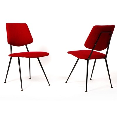 Set of 4 dinner chairs from the fifties by Gastone Rinaldi for unknown producer