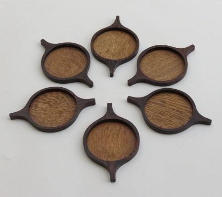 1960s set of 6 Candle holders or coasters by Skjøde, Denmark
