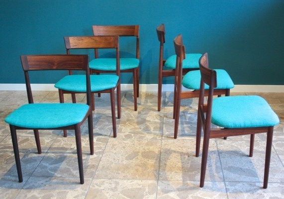 Set of 6 Model 39 dinner chairs by Henry Rosengren for Brande Møbelfabrik, 1960s