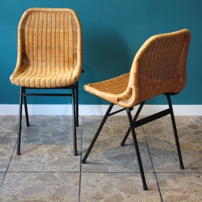 Pair of dinner chairs by Dirk van Sliedregt for Rohé Noordwolde, 1960s
