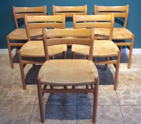 Set of 6 Model BM 1 dinner chairs by Børge Mogensen for C. M. Madsens Fabrikker, 1960s