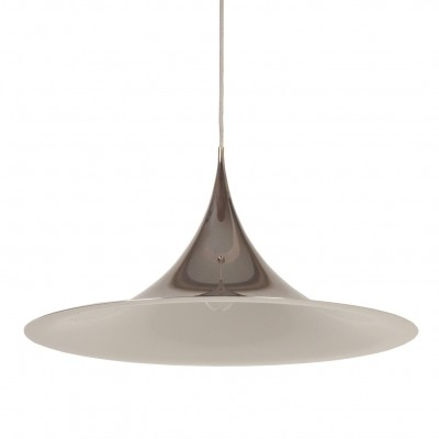 Biggest Semi (70 cm) hanging lamp from the fifties by Thorsten Thorup & Claus Bonderup for Fog & Mørup