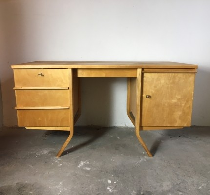 EB04 birch serie writing desk by Cees Braakman for Pastoe, 1950s
