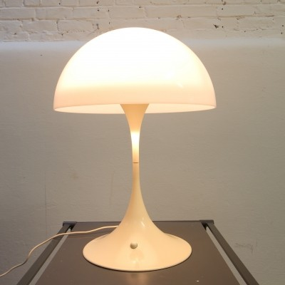 Panthella desk lamp from the seventies by Verner Panton for Louis Poulsen