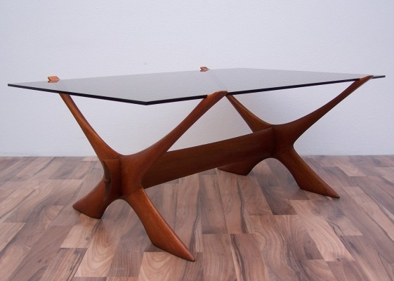 Condor coffee table by Fredrik Schriever Abeln for Örebro glas, 1960s