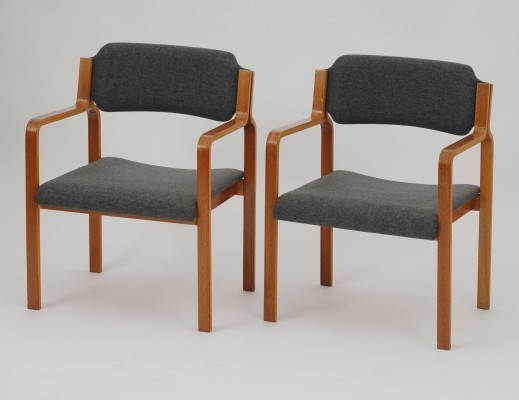 6 dinner chairs from the seventies by unknown designer for TON