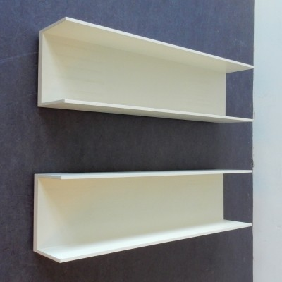 Set of 2 Shelves wall units from the sixties by Walter Wirz for Wilhelm Renz