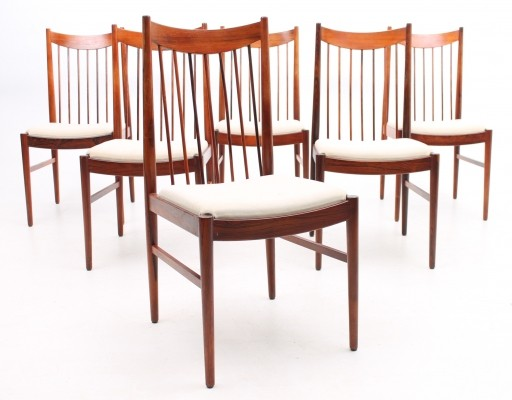 Set of 6 Highback dinner chairs from the sixties by Arne Vodder for Sibast