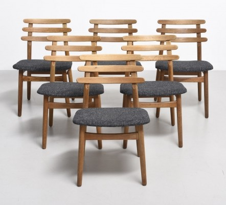 6 Model J48 dinner chairs from the sixties by Poul Volther for FDB Møbler