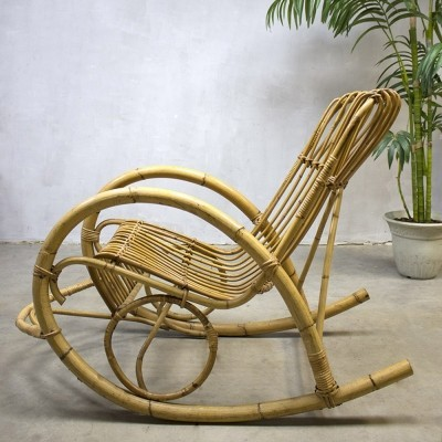 Rocking chair from the sixties by unknown designer for Rohé Noordwolde