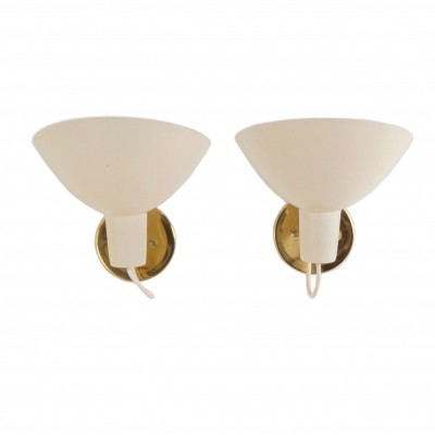 Visor Wall Lights by Vittoriano Vigano for Arteluce, ca 1950 | set of 2