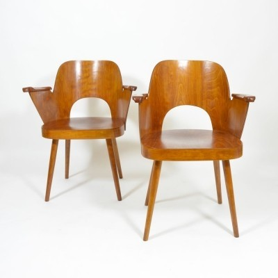 2 x dinner chair by Oswald Haerdtl for Ton Czechoslovakia, 1960s