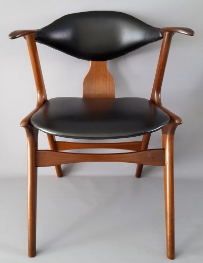 3 Cowhorn dinner chairs from the sixties by Louis van Teeffelen for Wébé