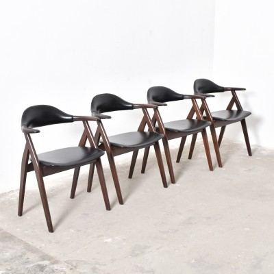 Set of 4 dinner chairs from the fifties by unknown designer for Propos Humefa