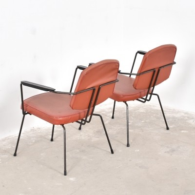 Set of 2 lounge chairs from the fifties by Rudolf Wolf for Elsrijk