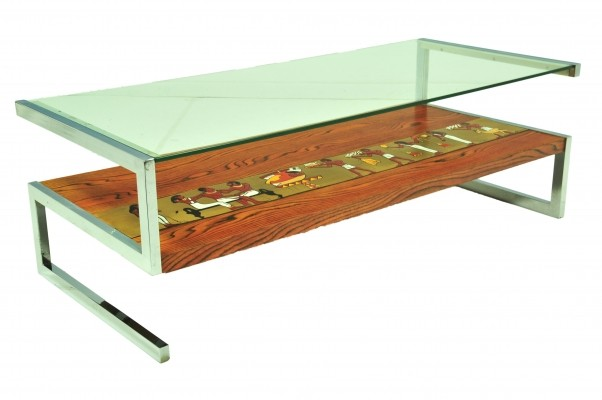 Coffee table from the sixties by unknown designer for Denisco