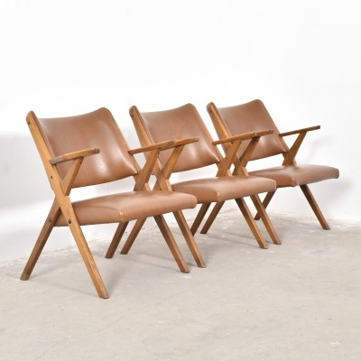 3 lounge chairs from the fifties by unknown designer for Dal Vera
