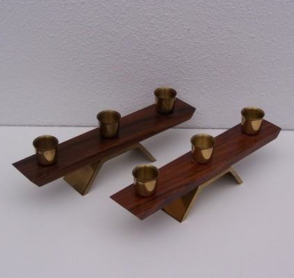 Candle Holders from the sixties by unknown designer for Dansk Designs