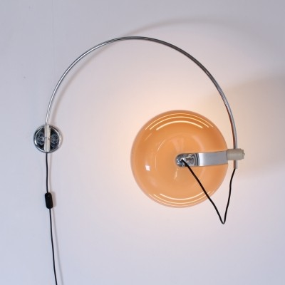 Arc wall lamp by Luigi Massoni for Guzzini, 1960s