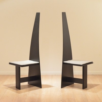 Set of 2 dinner chairs from the thirties by unknown designer for unknown producer