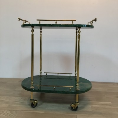 Tea Trolley serving trolley by Aldo Tura for Tura, 1930s