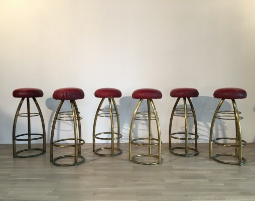 6 stools from the forties by unknown designer for unknown producer