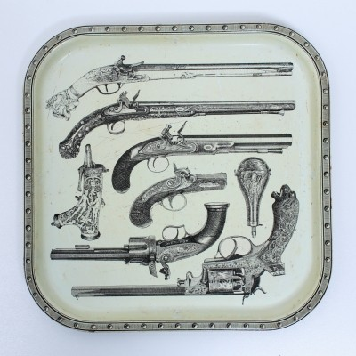 Serving tray from the sixties by Piero Fornasetti for unknown producer