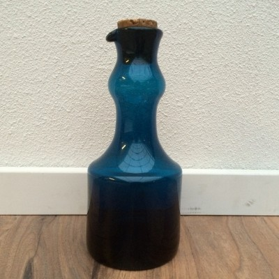 Blue series Carafe from the sixties by Bertil Vallien for Boda Åfors Glassworks