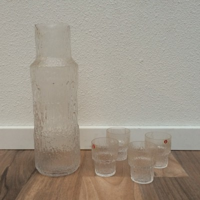 Thule Vodka carafe set by Tapio Wirkkala for Iittala, 1970s
