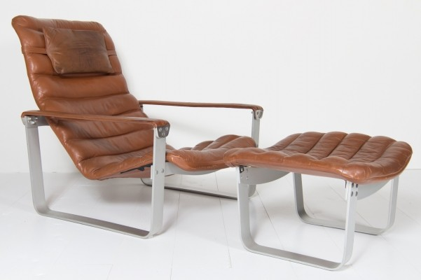 Pulkka lounge chair from the sixties by Ilmari Lappalainen for Asko