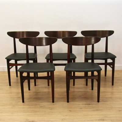 Set of 5 dinner chairs from the sixties by unknown designer for Skovby Mobelfabrik