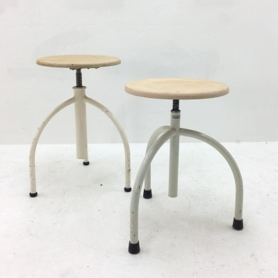 Set of 2 stools from the fifties by unknown designer for Oostwoud