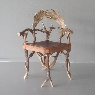 Bavarian Antler Chair, Early 20th Century
