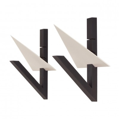 Set of 2 wall lamps from the eighties by unknown designer for unknown producer