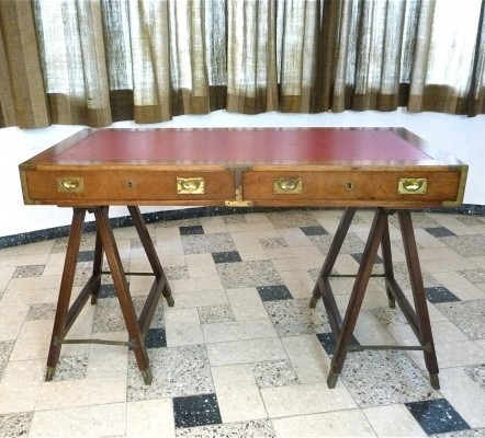 Campaign writing desk from the sixties by unknown designer for unknown producer
