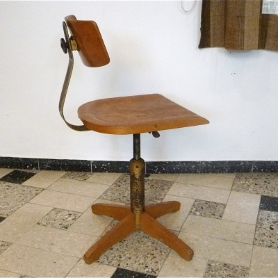 Model 350 office chair from the fifties by unknown designer for Ama Elsastic